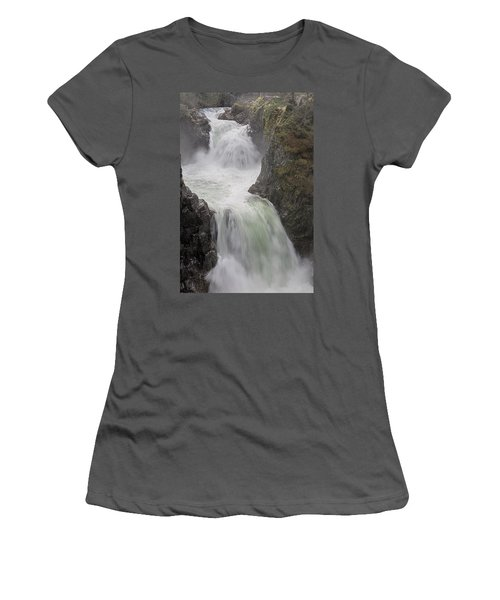 Roaring River Women's T-Shirt (Junior Cut) by Randy Hall