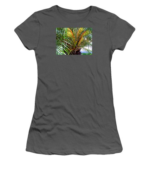 Women's T-Shirt (Junior Cut) featuring the photograph Robillini Palm In Bloom by Merton Allen
