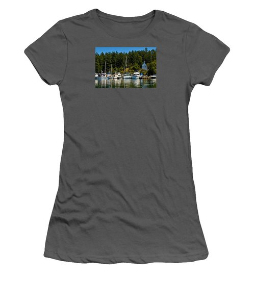 Roche Harbor Marina Women's T-Shirt (Athletic Fit)