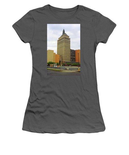 Rochester, Ny - Kodak Building 2005 Women's T-Shirt (Junior Cut) by Frank Romeo