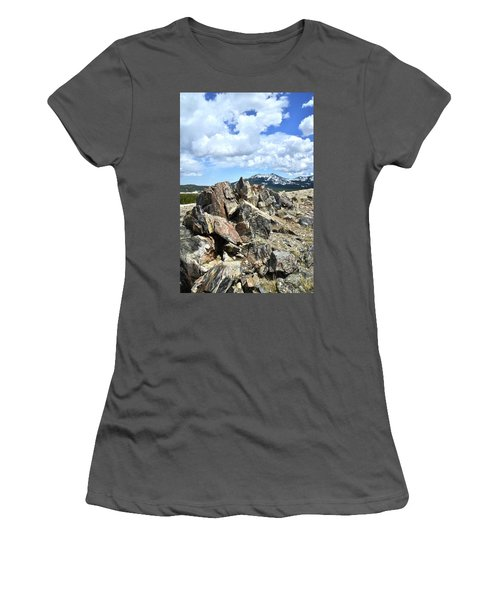 Rocky Crest At Big Horn Pass Women's T-Shirt (Athletic Fit)