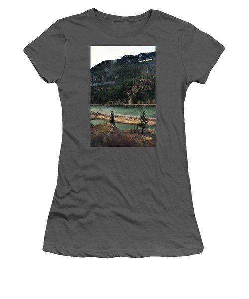 Rocky Mountain Foothills Montana Women's T-Shirt (Junior Cut) by Kyle Hanson