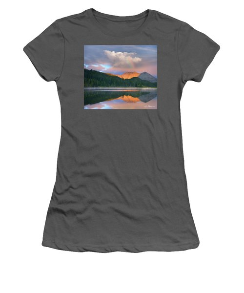 Rocky Mountain Women's T-Shirt (Junior Cut) by Tim Fitzharris