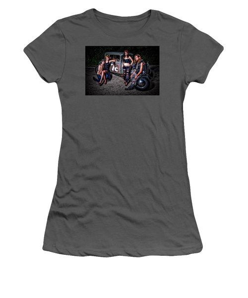 Rodders #4 Women's T-Shirt (Athletic Fit)