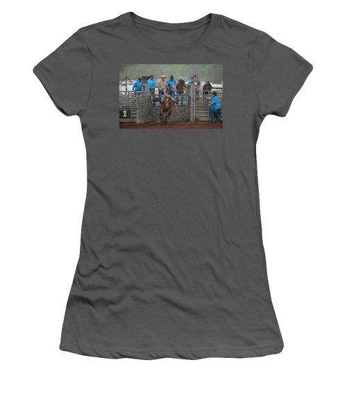 Rodeo Bronco Women's T-Shirt (Junior Cut) by Lori Seaman