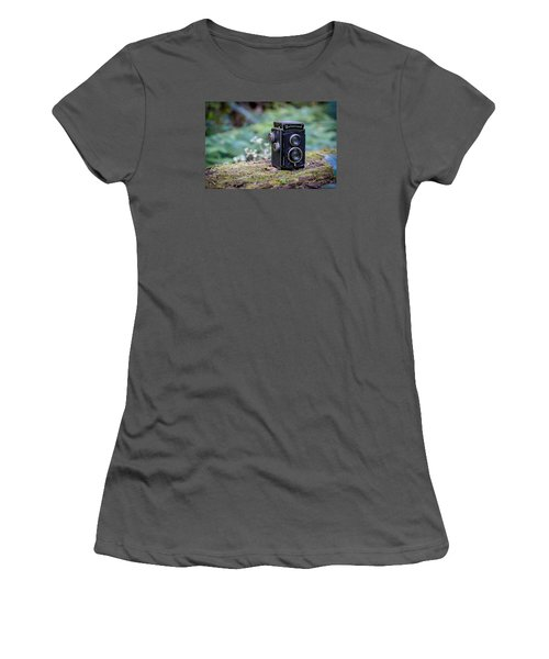 Women's T-Shirt (Junior Cut) featuring the photograph Rolleicord Tlr by Keith Hawley