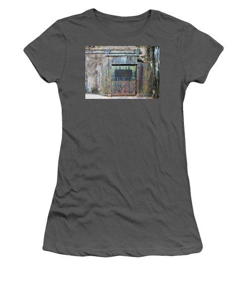 Rolling Door To The Bunker Women's T-Shirt (Athletic Fit)