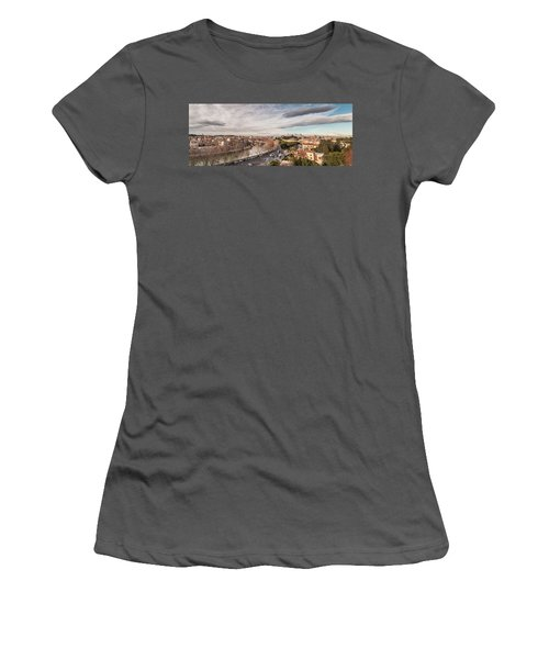Women's T-Shirt (Junior Cut) featuring the photograph Rome - Panorama  by Sergey Simanovsky