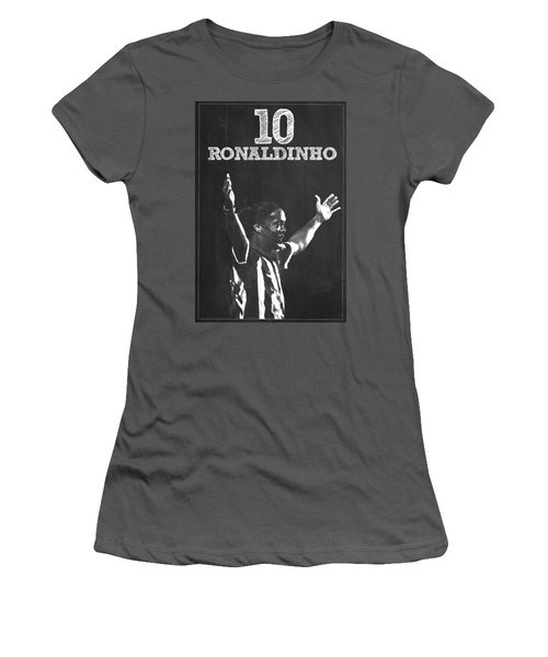 Ronaldinho Women's T-Shirt (Junior Cut) by Semih Yurdabak