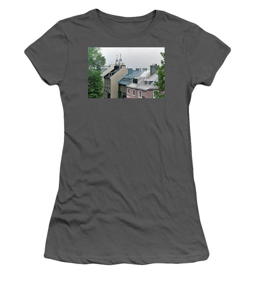 Women's T-Shirt (Athletic Fit) featuring the photograph Rooftops by John Schneider
