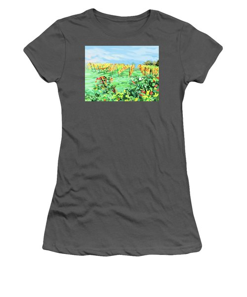 Roosthole Vineyard Women's T-Shirt (Junior Cut) by Plum Ovelgonne