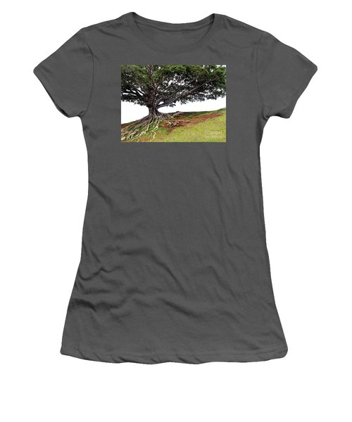 Women's T-Shirt (Junior Cut) featuring the photograph Roots Of Honolulu by Gina Savage