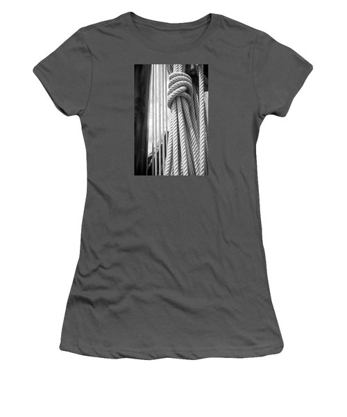 Women's T-Shirt (Junior Cut) featuring the photograph Ropes From The Past by Bob Decker