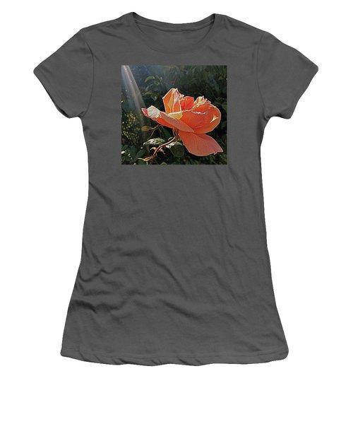 Rose And Rays Women's T-Shirt (Junior Cut) by Suzy Piatt