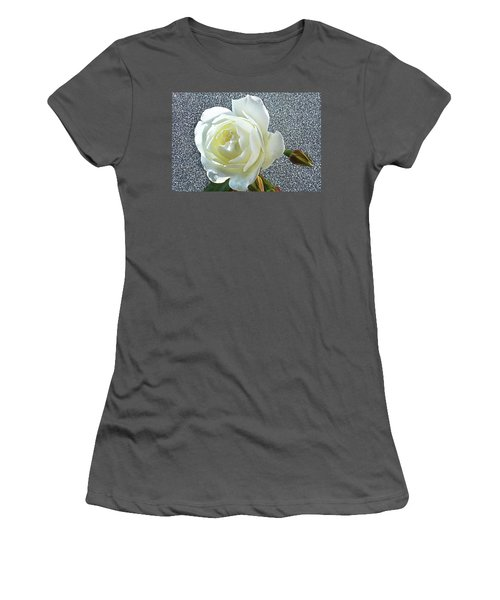 Women's T-Shirt (Junior Cut) featuring the photograph Rose With Some Sparkle by Terence Davis