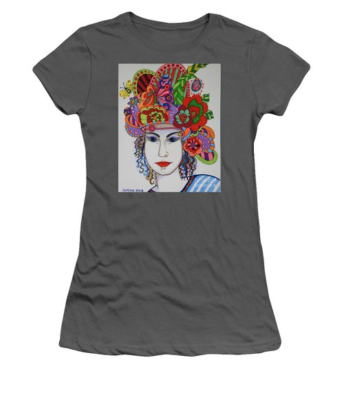 Women's T-Shirt (Junior Cut) featuring the painting Rosemary by Alison Caltrider