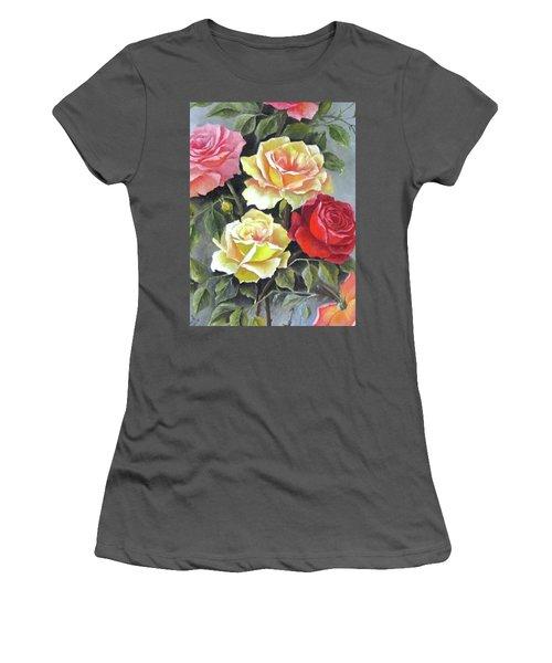 Roses Women's T-Shirt (Junior Cut) by Katia Aho