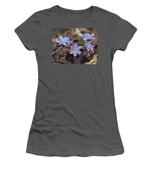 Round-lobed Hepatica Dspf116 Women's T-Shirt (Athletic Fit)