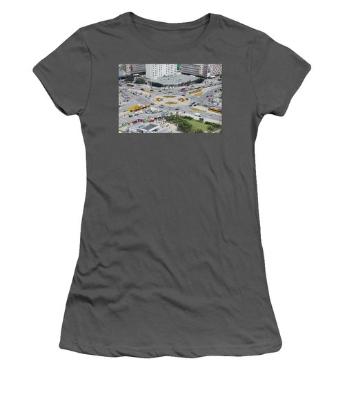 Women's T-Shirt (Junior Cut) featuring the photograph Roundabout In Warsaw by Chevy Fleet