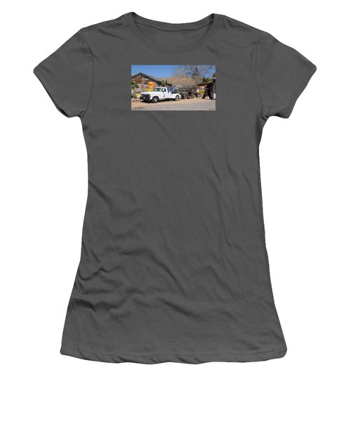 Route 66 Old Shell Service Station Women's T-Shirt (Athletic Fit)