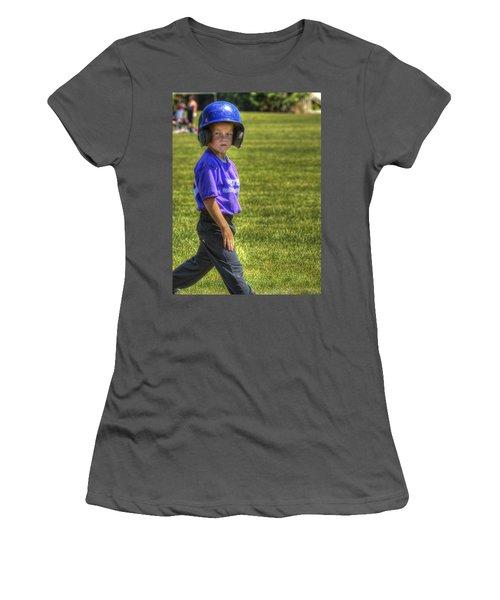 Runner On Base 1799 Women's T-Shirt (Athletic Fit)