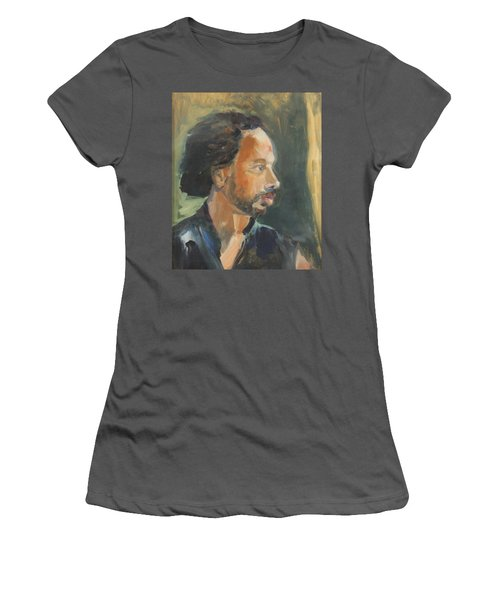 Women's T-Shirt (Junior Cut) featuring the painting Russell by Daun Soden-Greene