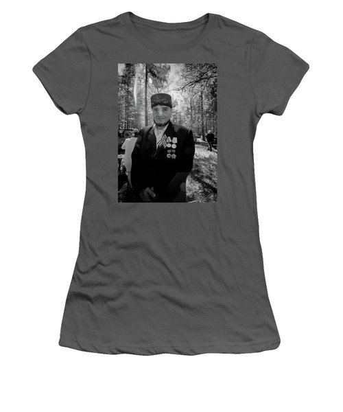 Women's T-Shirt (Athletic Fit) featuring the photograph Russian Afghanistan War Veteran by John Williams