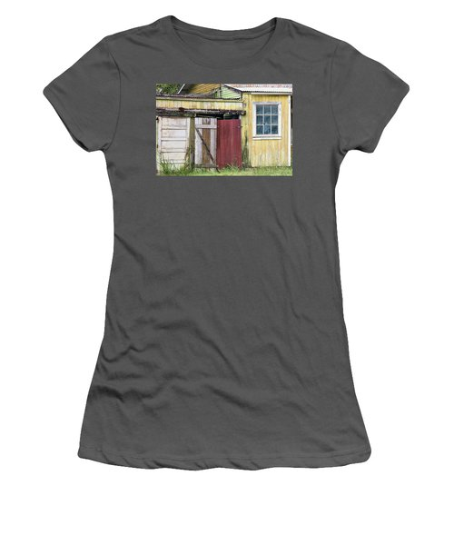 Rustic Shed Panorama Women's T-Shirt (Athletic Fit)