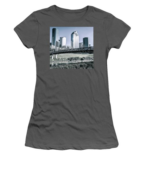 Sabine Promenade Over Buffalo Bayou Women's T-Shirt (Athletic Fit)