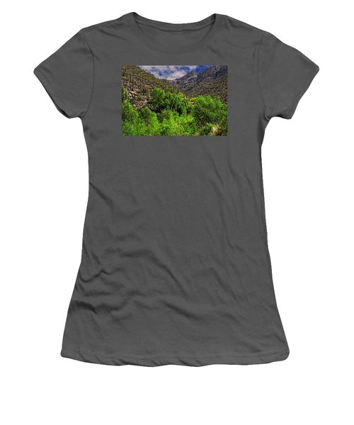 Women's T-Shirt (Athletic Fit) featuring the photograph Sabino Canyon H33 by Mark Myhaver