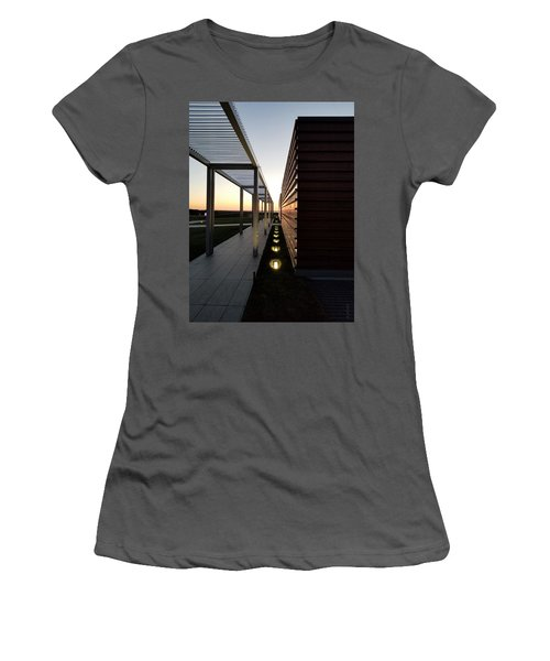 Women's T-Shirt (Athletic Fit) featuring the photograph Sag Harbor Sunset 1 by Rob Hans