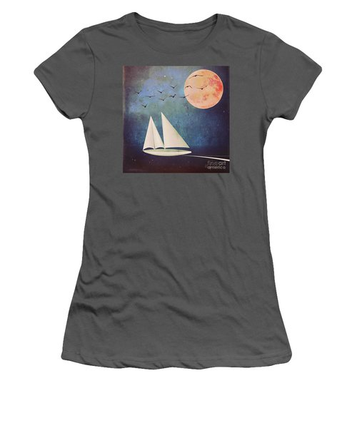 Women's T-Shirt (Junior Cut) featuring the digital art Sail Away by Alexis Rotella