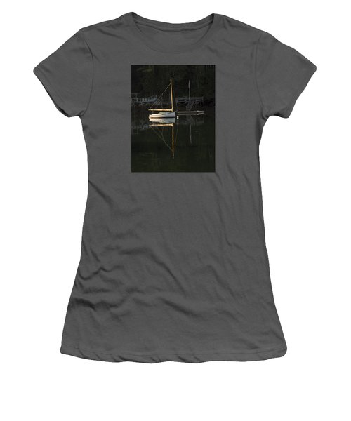 Sailboat At Rest Women's T-Shirt (Athletic Fit)