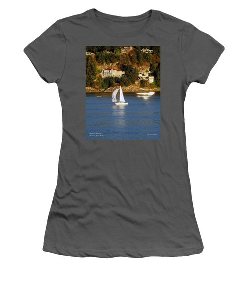 Sailboat In Vancouver Women's T-Shirt (Athletic Fit)