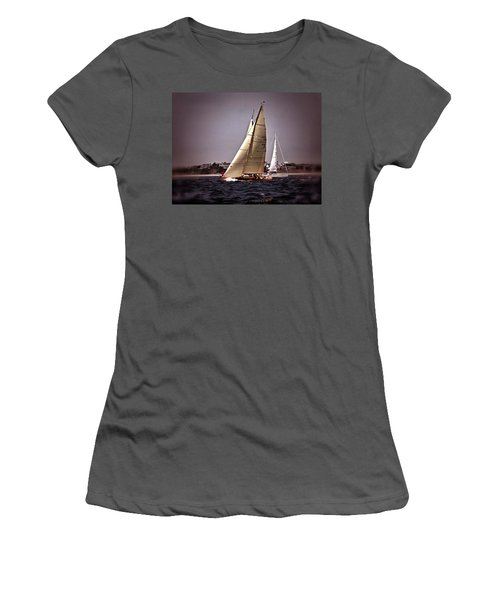 Sailing To Nantucket 005 Women's T-Shirt (Athletic Fit)