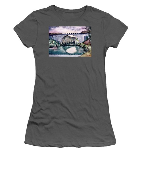Women's T-Shirt (Junior Cut) featuring the painting Saint Bridge by Geni Gorani