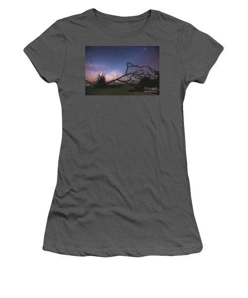 Saint Helena Milky Women's T-Shirt (Junior Cut) by Robert Loe