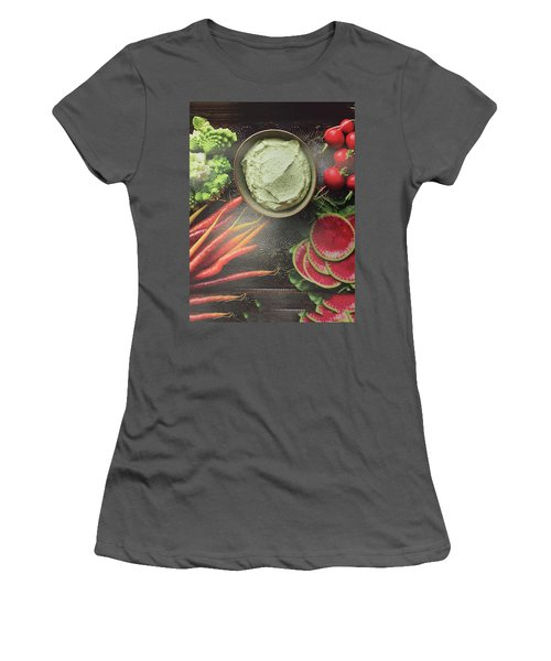 Women's T-Shirt (Athletic Fit) featuring the photograph Salad Legume Vegetables Healthy Food Cuisine Chef Kitchen Christmas Holidays Birthday Mom Dad Sister by Navin Joshi