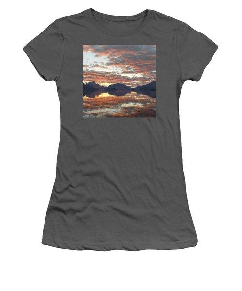 Women's T-Shirt (Junior Cut) featuring the digital art Salmon Lake Sunset by Mark Greenberg