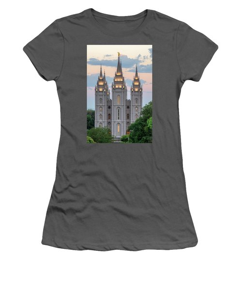 Salt Lake City Temple Morning Women's T-Shirt (Athletic Fit)