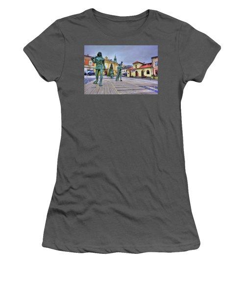 Women's T-Shirt (Junior Cut) featuring the photograph Salt Miners Of Wieliczka, Poland by Juli Scalzi