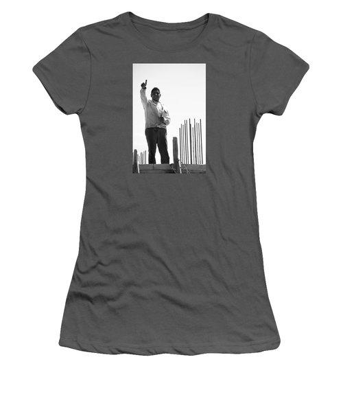 Women's T-Shirt (Junior Cut) featuring the photograph Saludo Ako Sayo by Jez C Self