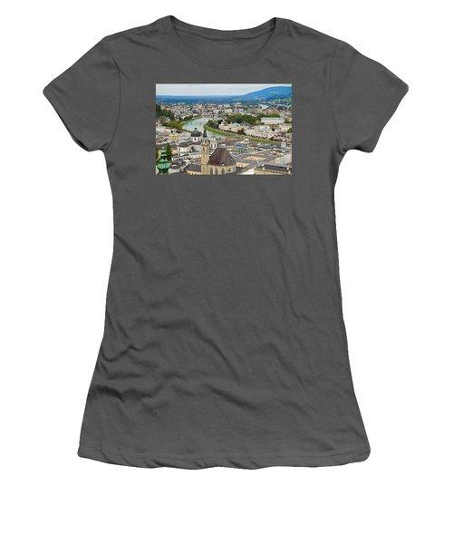 Salzburg From Hohensalzburg Castle Women's T-Shirt (Athletic Fit)