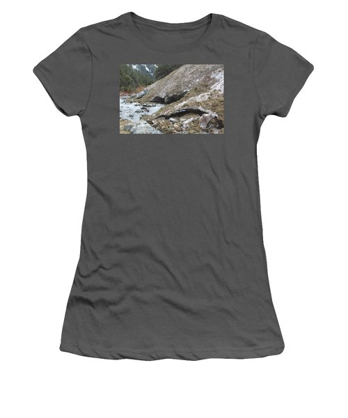 Women's T-Shirt (Junior Cut) featuring the photograph San Antonio Glacier by Viktor Savchenko