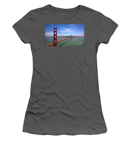 San Francisco Golden Gate Bridge Women's T-Shirt (Junior Cut) by Debra Thompson