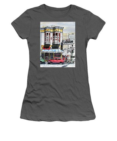 San Francisco Street Corner Women's T-Shirt (Junior Cut) by Terry Banderas