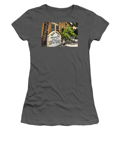 Women's T-Shirt (Junior Cut) featuring the photograph San Pedro Roman Catholic Church by Lawrence Burry