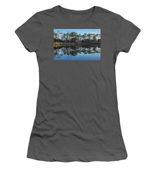 Women's T-Shirt (Athletic Fit) featuring the photograph Sanctuary Reflection  by Julie Andel