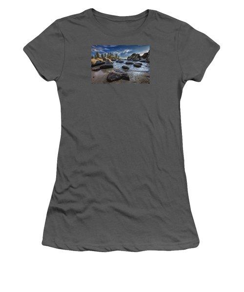 Sand Harbor II Women's T-Shirt (Junior Cut) by Rick Berk