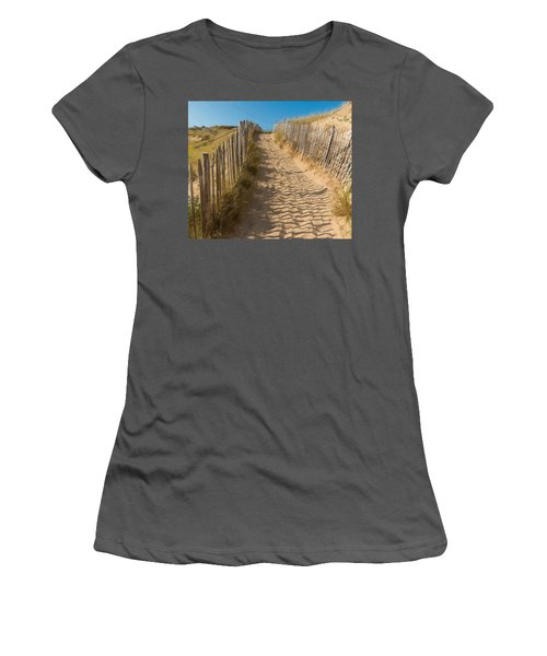 Sandy Pathway To The Beach Women's T-Shirt (Athletic Fit)